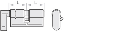 Cilindri dubli cu buton accesorii