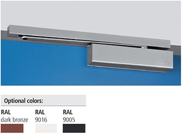 Modelul CP2–EMF difera de CP2 prin sistemul electromecanic de prindere ce permite canatului sa fie blocat la un unghi de la 80° la 120°. In timpul alarmelor sau penelor de curent, dispozitivul este deblocat si usa este inchisa de amortizor. Amortizorul CP2-EMF poate fi folosit la usile antifoc avand un unghi maxim de deschidere de 120°, cu o forta de inchidere de nivel 4..