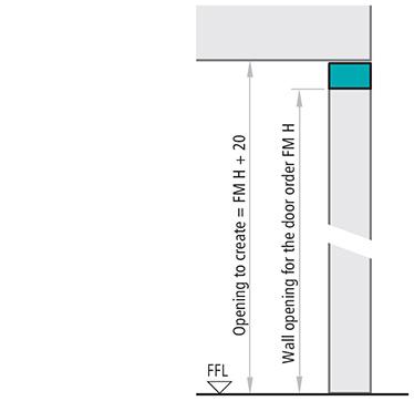 dimensiuni subtoc Sectiune de imbinare verticala