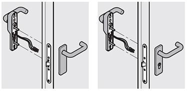 Manere MSC Intrebuintare: la usile cu una sau doua canate cand controlul este stabilit pentru una sau doua sensuri de deschidere. Incuierea cu cheie blocheaza deschiderea din ambele sensuri de deschidere. Deschiderea controlata se poate configura atat pentru partea de tragere cat si pentru cea de impingere a usii in functie de locul aplicarii manerului electric.  Manere MCC/S Intrebuintare: pentru usile cu una sau doua canate unde accesul se face din partea de tragere (partea cu manerul electric). Incuierea cu cheie duce la blocarea deschiderii pe partea de impingere a usii, dar nu de pe partea aplicarii manerului.