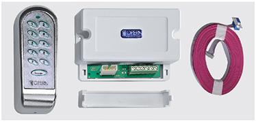 Tastatura cu cod de acces Sursa de alimentare 12-18 V AC/V DC cu 10 taste numerice plus tasta Enter, incluzand unitate de control pentru o usa si temporizator integrat (0,5÷25 sec.). Se pot inregistra pana la 500 de coduri diferite compuse din 1 pana la 6 cifre.