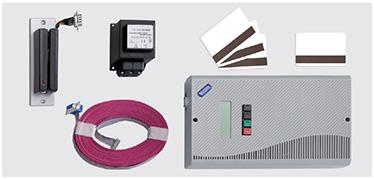 Sistem de control pe baza de card Sistem de control pe baza de card cu temporizator integrat (art. 55611 + 55613 + 55615), incluzand cititor de card, unitate de control, cablu plat, transformator extern 230 V DC/15 V DC, 3 carduri blanc si unul codat.