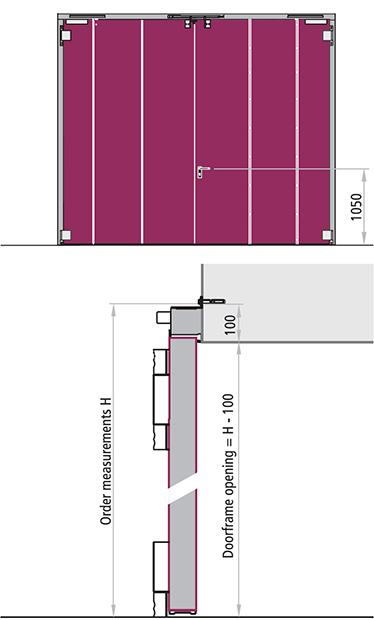 varianta REI 120 cu 2 canate poarta antifoc balamale