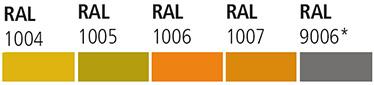 grupa 03 RAL 1004 RAL 1005 RAL 1006 RAL 1007 RAL 9006