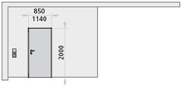 dimensiuni usa pietonala poarta culisanta antifoc cu 1 canat