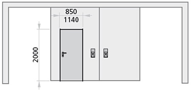 dimensiuni usa pietonala poarta antifoc culisanta cu 2 canaturi