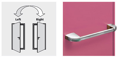 Sensul de deschidere in dreapta sau stanga  dispozitiv SLASH.