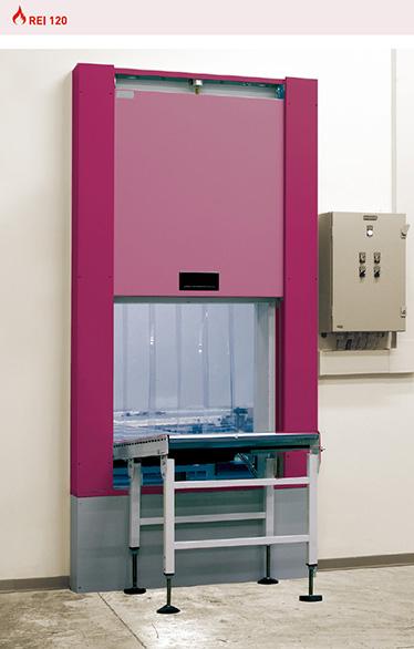 poarta antifoc culisanta vertical REI 120 sistemul de glisare vertical.
