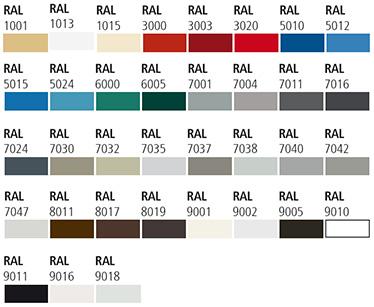 grupa 02 culori din paletarul RAL porti antifoc culisante vertical