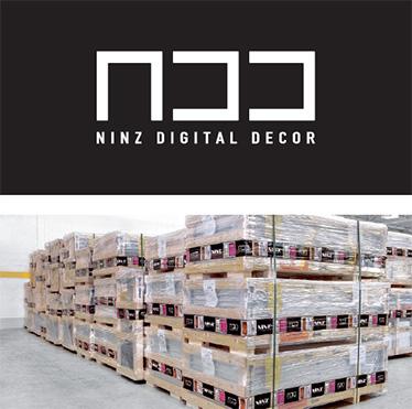 Decor Digital Ninz; Pachet complet canat + accesorii, ambalat si depozitat pe paleti