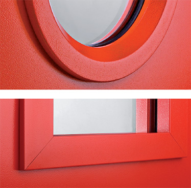 ferestre rotunde sau dreptunghiulare rezistente la foc