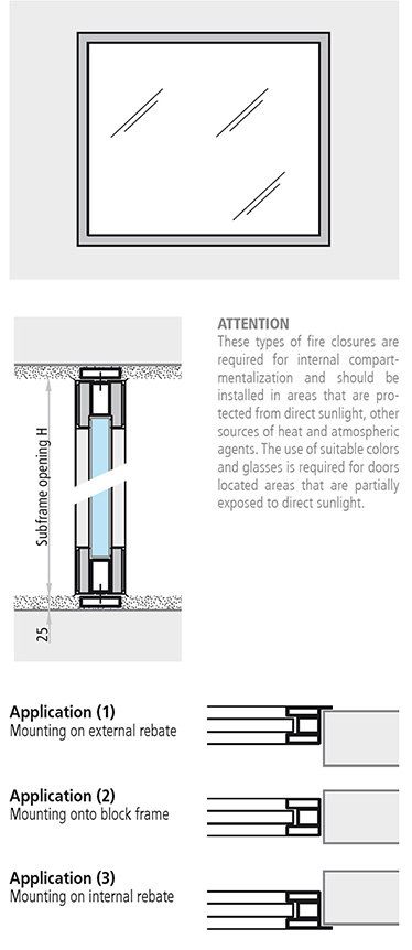 fereastra antifoc fixa din aluminiu REI 60 cu toc bloc fixa aluminiu