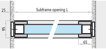 dimensiuni fereastra antifoc fixa din aluminiu REI 90 / REI 120 cu toc bloc fixa din aluminiu