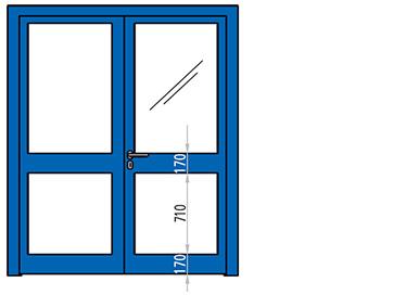 usi vitrate antifoc din aluminiu cu 2 canate REI 90 si REI 120