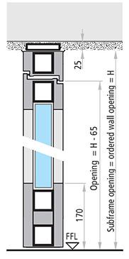 usi din aluminiu REI 90 si REI 120 cu 2 canate antifoc vitrate