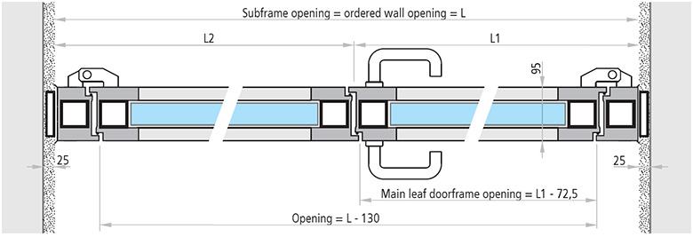 specificatii tehnice REI 90 si REI 120 cu 2 canate usi antifoc vitrate din aluminiu