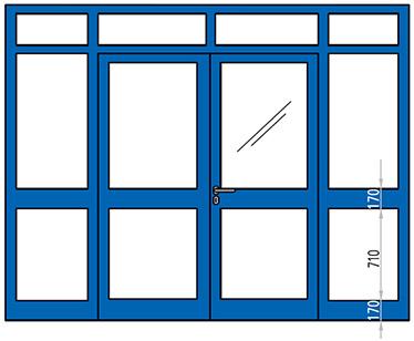 usa REI 90 si REI 120 cu elemente fixe vitrate antifoc aluminiu
