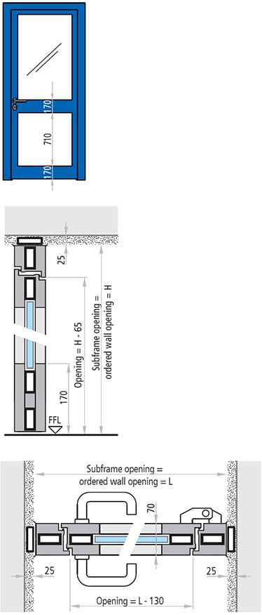 specificatii tehnice USA VITRATA din aluminiu ANTIFOC CU 1 CANAT REI 60