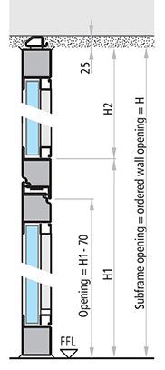 dimensiuni usa vitrata antifoc REI 30 si REI 60 cu elemente fixe