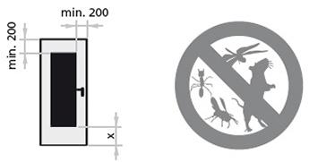 dimensiuni grila de aerisire; previne accesul rozatoarelor si al insectelor