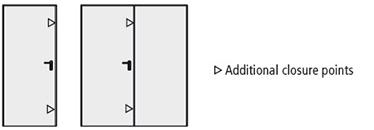 puncte suplimentare de inchidere la usa metalica multifunctionala Proget cu 1 sau 2 canate