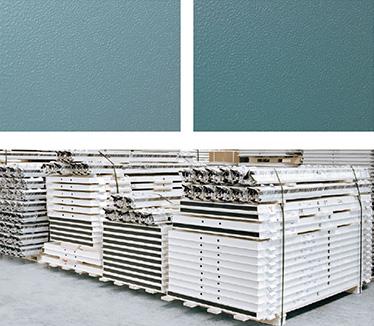 culoare canat NCS 4020-B50G; culoare toc NCS 5020-B850G; O foaie de usa invelita intr-un strat de polietilena expandabila; Depozitare pe paleti de lemn.