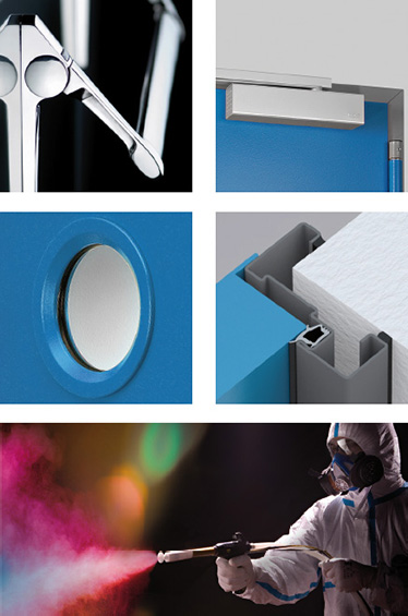 accesorii optionale Proget; Amortizor de usa; Extensii de toc; Garnituri; Hublouri; vopsire in camp electrostatic;