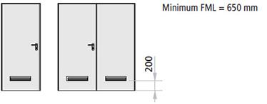 grila de aerisire penru usa metalica multifunctionala Rever cu 1 sau 2 canate, din PVC de 482 x 99 mm alb sau negru, insumand 150 cm2.