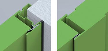cadru perimetral; articulatia centrala a usilor cu 2 canaturi.