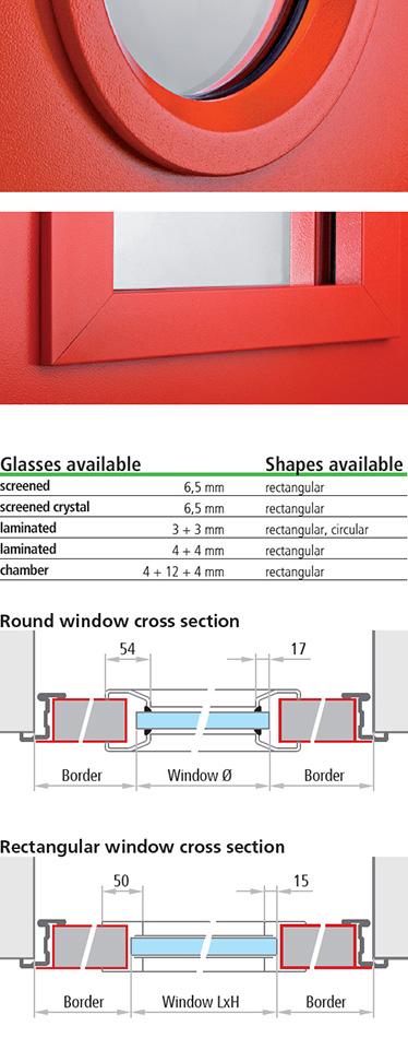 fereastra multifunctionala Univer; sectiuni de imbinare la fereastra rotunda; sectiuni de imbinare la fereastra dreptunghiulara; tipuri de sticla; forme disponibile