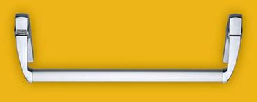 kit EXUS® LA din aluminiu KIT pentru usile cu un canat sau pentru canatul activ al usilor cu doua canate Continut KIT: 1 broasca antipanica pentru orificiile de 65 mm hole, 1 insertie pentru sistemul de prindere al zavorului, 2 mecanisme de control, 2 capace din aluminiu cromat, 2 manere din aluminiu cromat, 1 bara din aluminiu anodizat, 1 control extern din otel inoxidabil sau aluminiu, semicilindru cu 3 chei, 1 sablon de montaj, 1 cilindru dublu cu 3 chei (varianta DC), 1 pictograma adeziva (sageata verde), 1 manual de instalare/intretinere.