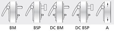 Variatii optionale Bara din aluminiu vopsita cu culori din gama RAL Mecanism MAC® 1 antipanica cu functie de control al accesului Cilindri codati sau sistem de chei master Microswitch si cablu de semnalizare de deschidere a usii