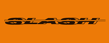 bara antipanica SLASH® marca inregistrata a Ninz S.p.A. propus in cutie negru/oranj