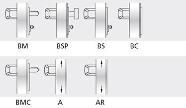 variatii optionale bara aluminiu vopsita in culori din gama RAL Controale externe BM si BSP din inox Controale externe BM si BSP in culori din gama RAL  Mecanism antipanica MAC® 1 cu control de acces Cilindri codati sau sistem de chei master Microswitch si cablu de semnalizare pentru inchidere usa