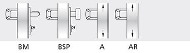 Variatii optionale  Bara din aluminiu in culori din gama RAL Broasca antipanica MAC® 1 cu control de acces Cilindri codati sau sistem de chei master  Microswitch si cablu de semnalizare de deschidere