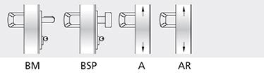 Variatii optionale Broasca antipanica MAC® 1 cu control de acces Cilindri codati sau sistem de chei master Microswitch si cablu de semnalizare deschidere usa