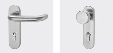 Toate KIT-urile din nylon (exceptie pentru usile cu vitraj) se vor livra cu controale externe din inox BM si BSP
