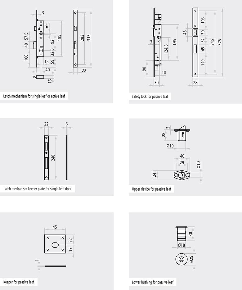 3105000 descriere Dispozitiv si sistem de prindere superior pentru canatul pasiv